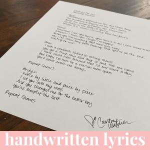 "Handwritten Lyrics – ""Rodeo Dance"""
